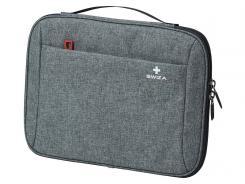 "SWIZA Laptop Sleeve Fausta, zweifarbiger Tweedstoff, Fleece-Innenfutter, für Tablet 27,9 cm/11 """