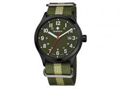 Swiza Uhr Kretos Gent, Schweizer Quarzlaufwerk, 24h-Anzeige, Nylon Armband