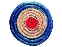 Strohzielscheibe,Durchmesser 65cm,6cm dick,