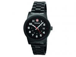 Wenger-Uhr, Field Classic, Black PVD, Edelstahlgehäuse,, PVD-Beschichtung, Edelstahlarmband, WEEE-Reg.-Nr. DE67518601