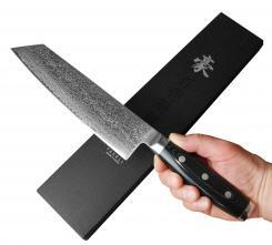Japanisches Kochmesser Kiritsuke Yaxell GOU 101 Lagen Damast Küchenmesser scharf