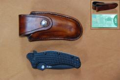 Handgearbeitete Lederscheide für Taschenmesser ZT200
