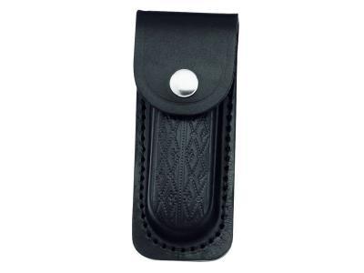 Lederetui,sw,für Heftlänge 11cm,längs und quer zu tragen