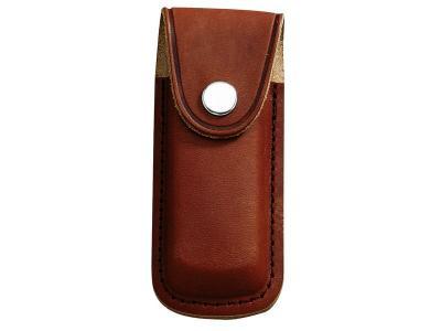 Messer-Etui, braunes Leder, für Heftlänge 11 cm Gürteltasche