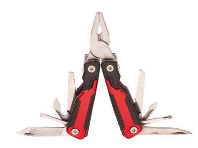 Herbertz Mini-Multitool + Holster, 8 Werkzeuge, rot/schwarz , Etui