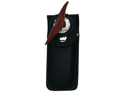 Taschenmesser-Etui schwarz Leder Gürtel-Tasche Messertasche bis 13 cm