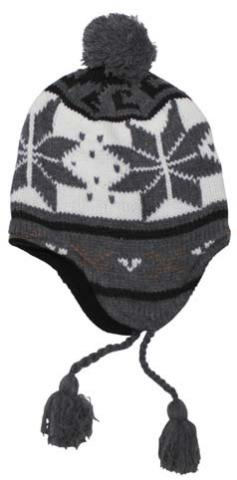 "Mütze ""Peru Lima"", mit Fleece, weiß/grau"