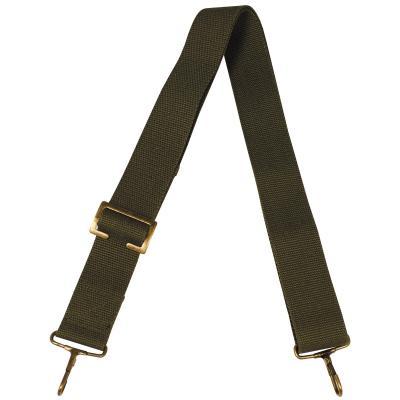 Schulterriemen für Tasche, 38 mm, oliv, mit 2 Karabiner