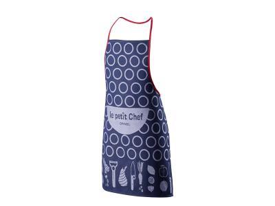 Opinel Küchenschürze für Kinder, blau, Baumwolle,